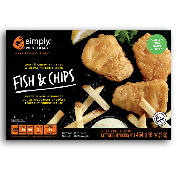 Fish & Chips (Wild-Caught Pacific Cod) - BlossomPure Organic