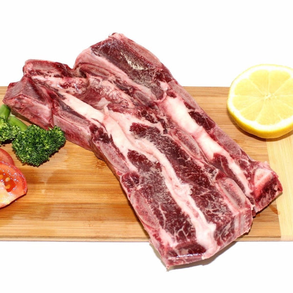 Grass-Fed Braising Ribs (Korean Style / 0.88 - 1 lb) - BlossomPure Organic