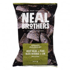 Neal Brothers, Deep Blue with Flax Tortilla Chips - 300g