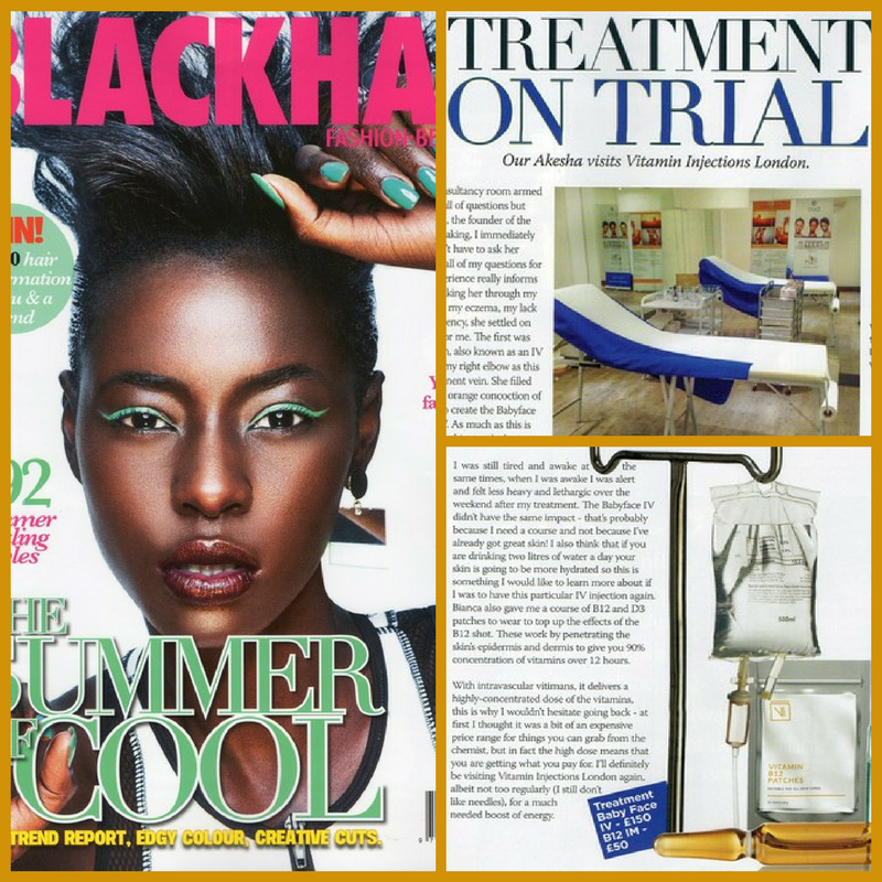 FEATURED IN BLACK HAIR MAGAZINE – IM & IV PUSH REVIEW!