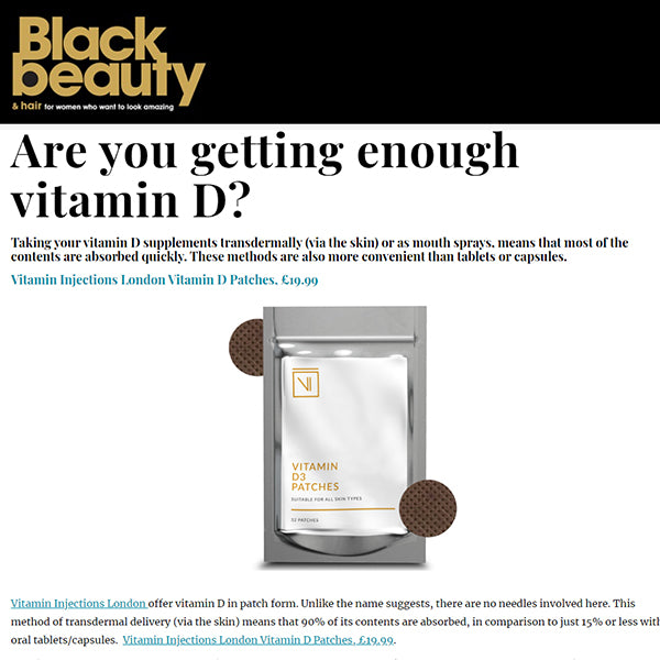 FEATURED IN Black Beauty & Hair Online - Are you getting enough vitamin D?
