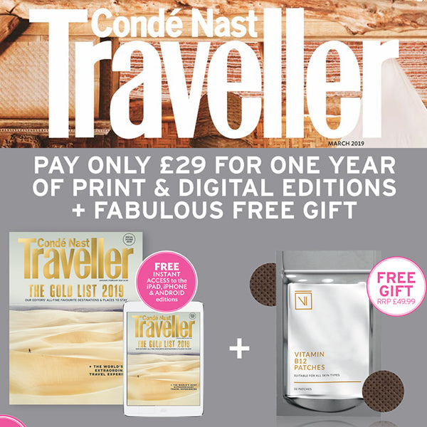 FEATURED IN CONDE NAST TRAVELLER – SUBSCRIBE AND GET FABULOUS GIFTS