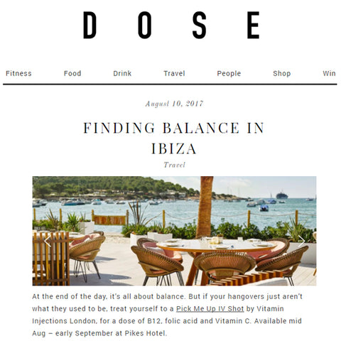 FEATURED IN DOSE UK – FINDING BALANCE IN IBIZA