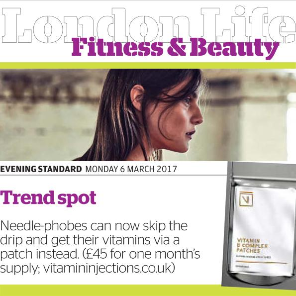 FEATURED IN EVENING STANDARD – VITAMIN SKIN PATCHES