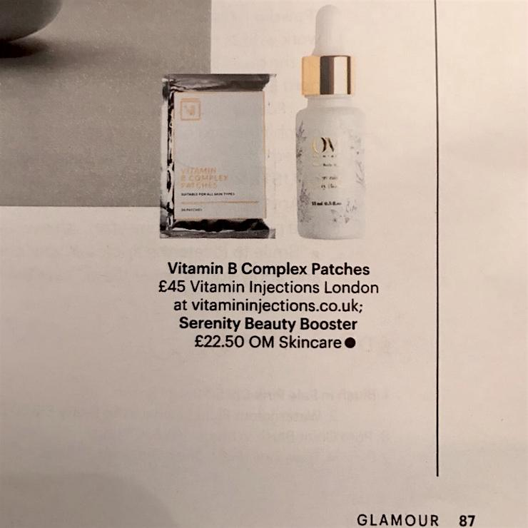 FEATURED IN GLAMOUR MAGAZINE – VITAMIN B COMPLEX SKIN PATCHES
