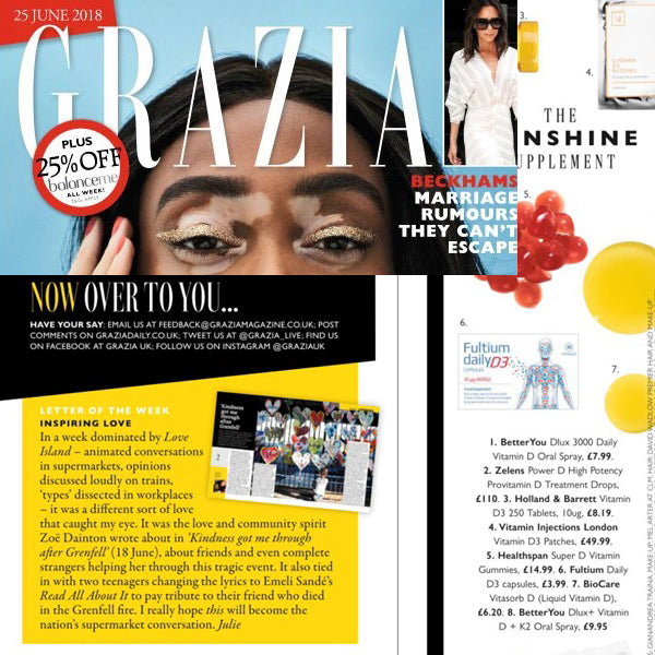 FEATURED IN Grazia Magazine - The Sun Supplement