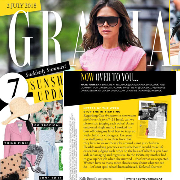 FEATURED IN Grazia Magazine - Prize for Letters Page Winners