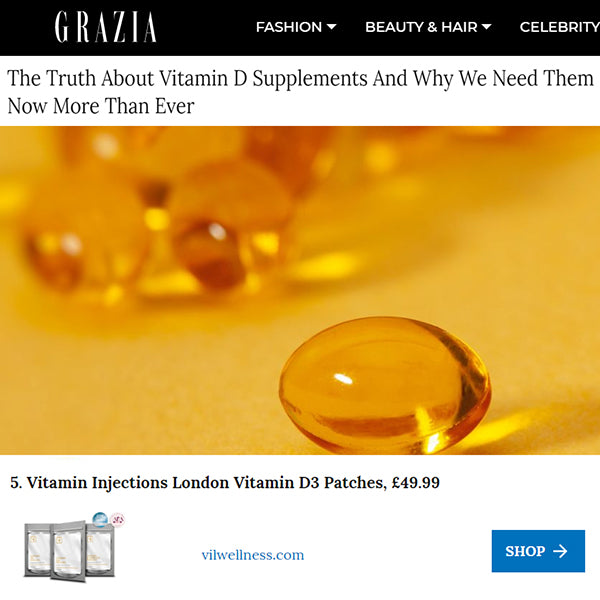FEATURED IN Grazia Online - The Truth About Vitamin D Supplements...
