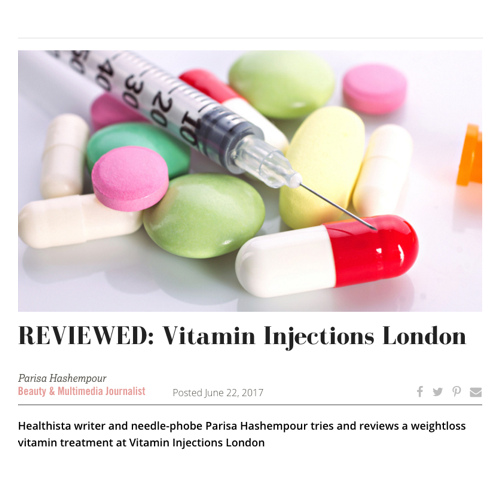 HEALTHISTA REVIEWS VITAMIN INJECTIONS FOR NEEDLE-PHOBES