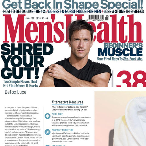 FEATURED IN MEN'S HEALTH – DETOX LUXE