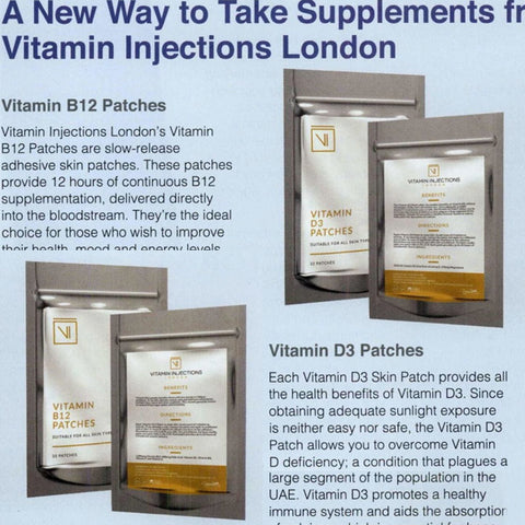Featured in Mother, Baby & Child Magazine (UAE) - A New Way to Take Supplements from Vitamin Injections London