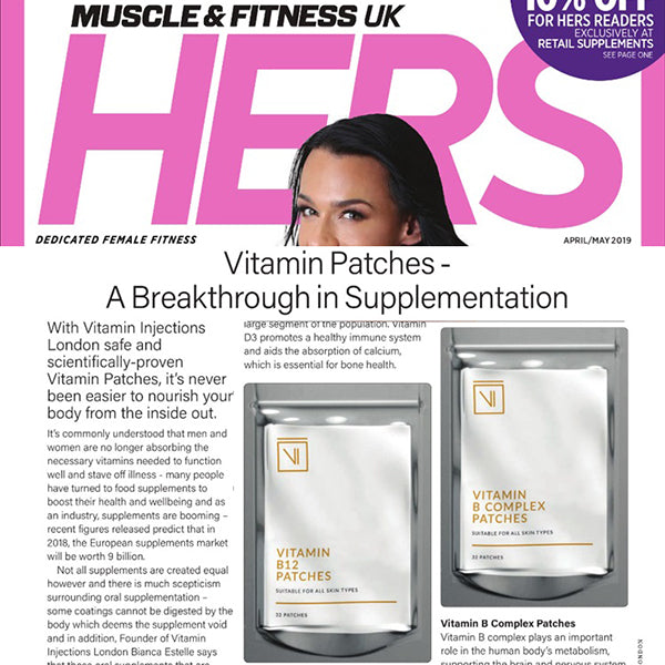 FEATURED IN MUSCLE & FITNESS HERS UK - Vitamin Patches - A Breakthrough in Supplementation