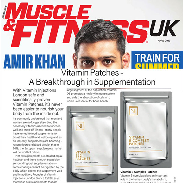 FEATURED IN MUSCLE & FITNESS UK - Vitamin Patches - A Breakthrough in Supplementation