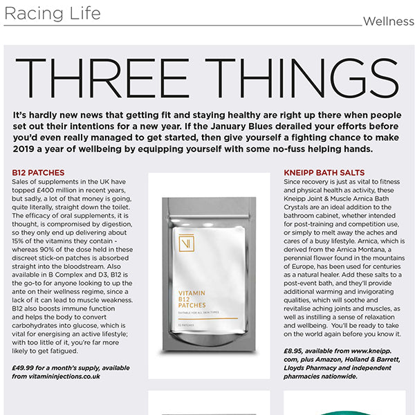 FEATURED IN RACING LIFE UK – THREE THINGS