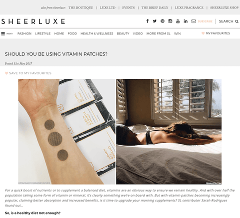 SHEERLUXE: THE LOW DOWN ON TRANSDERMAL VITAMIN PATCHES