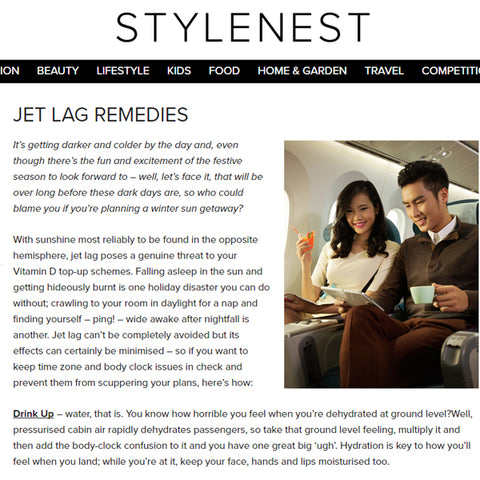 FEATURED IN STYLENEST UK – JET LAG REMEDIES
