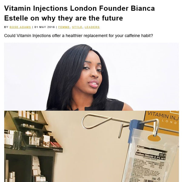 FEATURED IN TEMPUS MAGAZINE ONLINE - Vitamin Injections London Founder Bianca Estelle on why they are the future