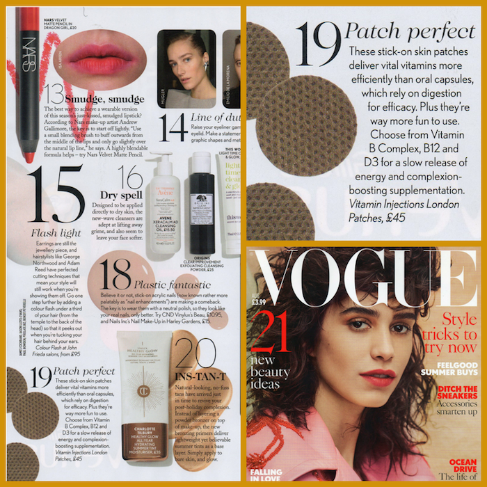 "FEATURED IN VOGUE MAGAZINE – ""PATCH PERFECT"""