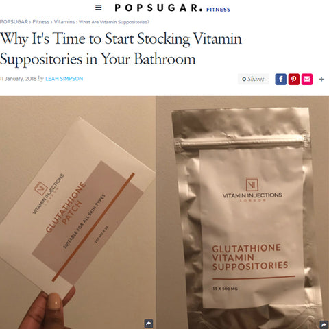 FEATURED IN POPSUGAR Fitness Middle East - Why It's Time to Start Stocking Vitamin Suppositories in Your Bathroom
