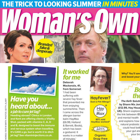 Featured in Woman's Own Magazine - Good For You!