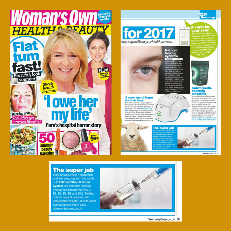 "FEATURED IN WOMAN'S OWN – ""THE SUPER JAB"""