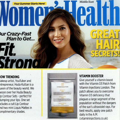 FEATURED IN Women's Health Magazine (UAE) - Your Summer Gift Guide - Vitamin Booster