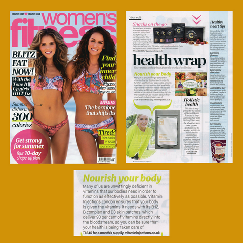 "FEATURED IN WOMEN'S FITNESS – ""NOURISH YOUR BODY"""