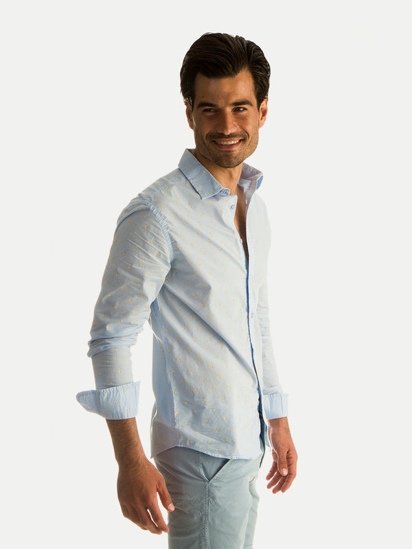 Cotton Shirts Blue Banana