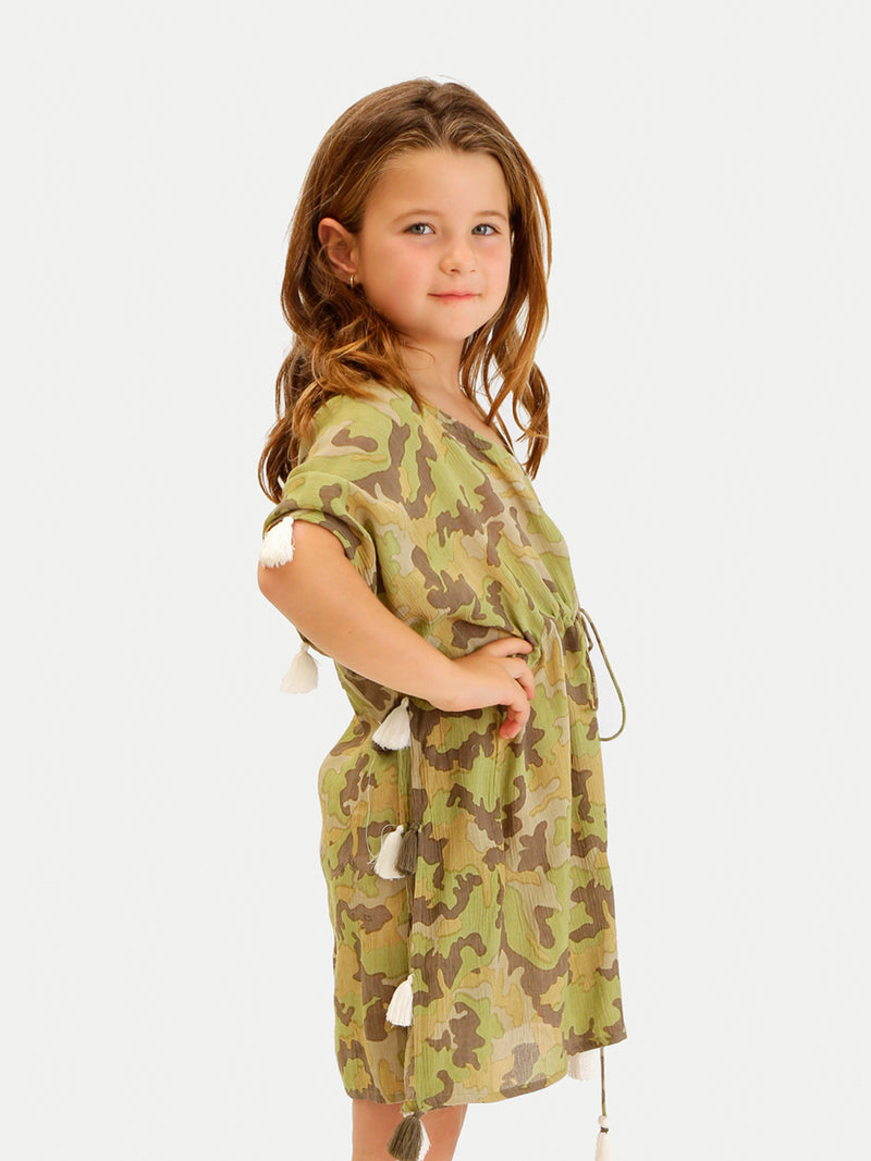 CAMO PARROTS GIRL COVER UP
