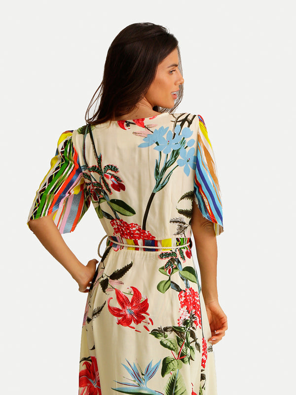 FLOWER MAXI COVER UP