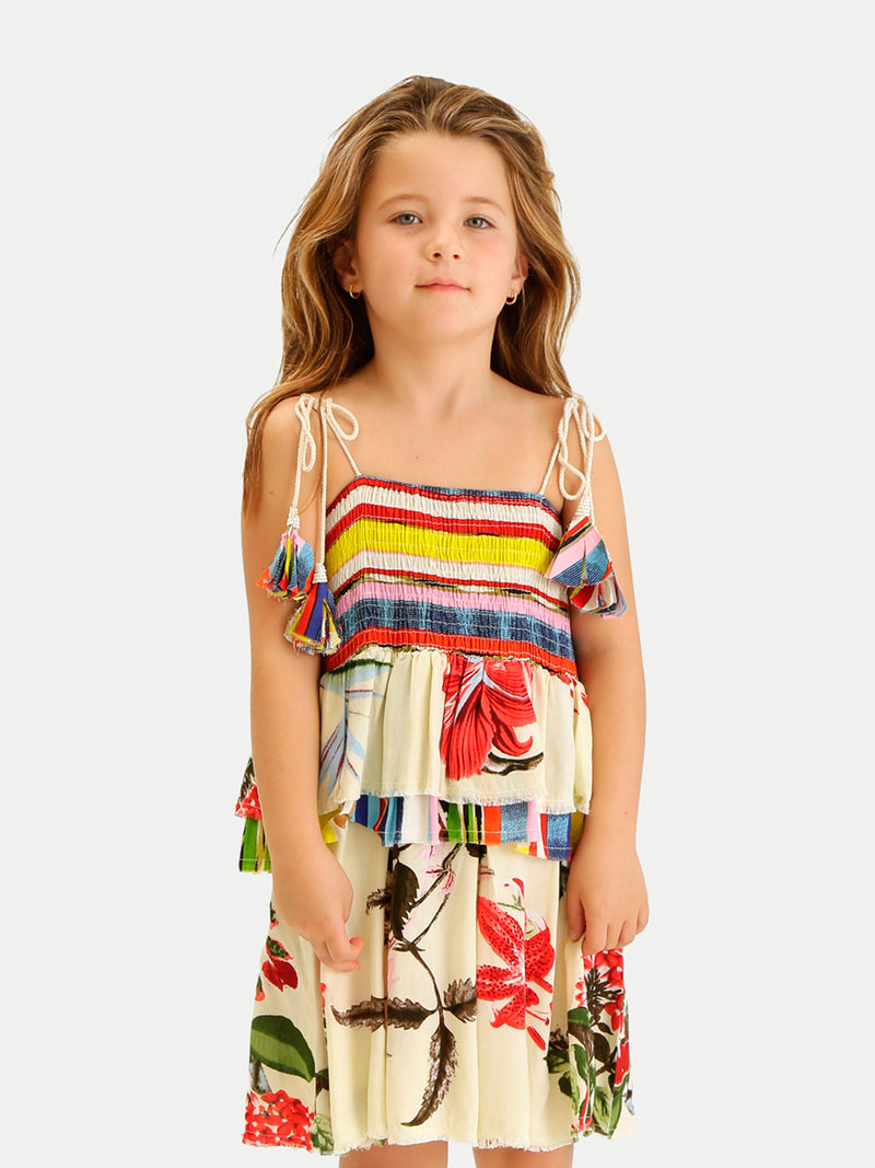 FLOWER DRESS GIRL COVER UP