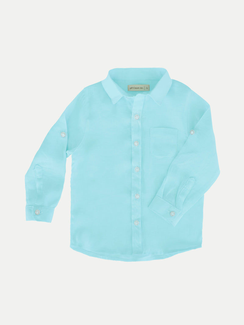 BABY BLUE BOY LINEN SHIRT