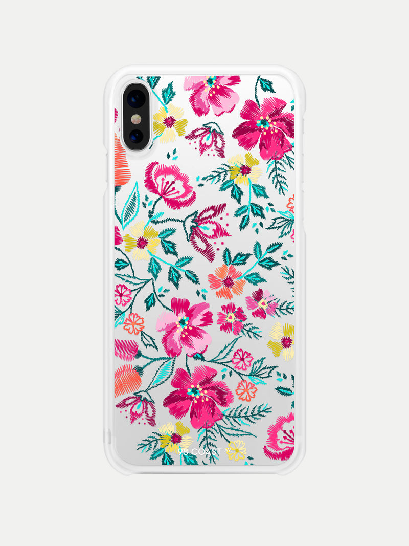 EMBROIDERED FLOWERS IPHONE CASE