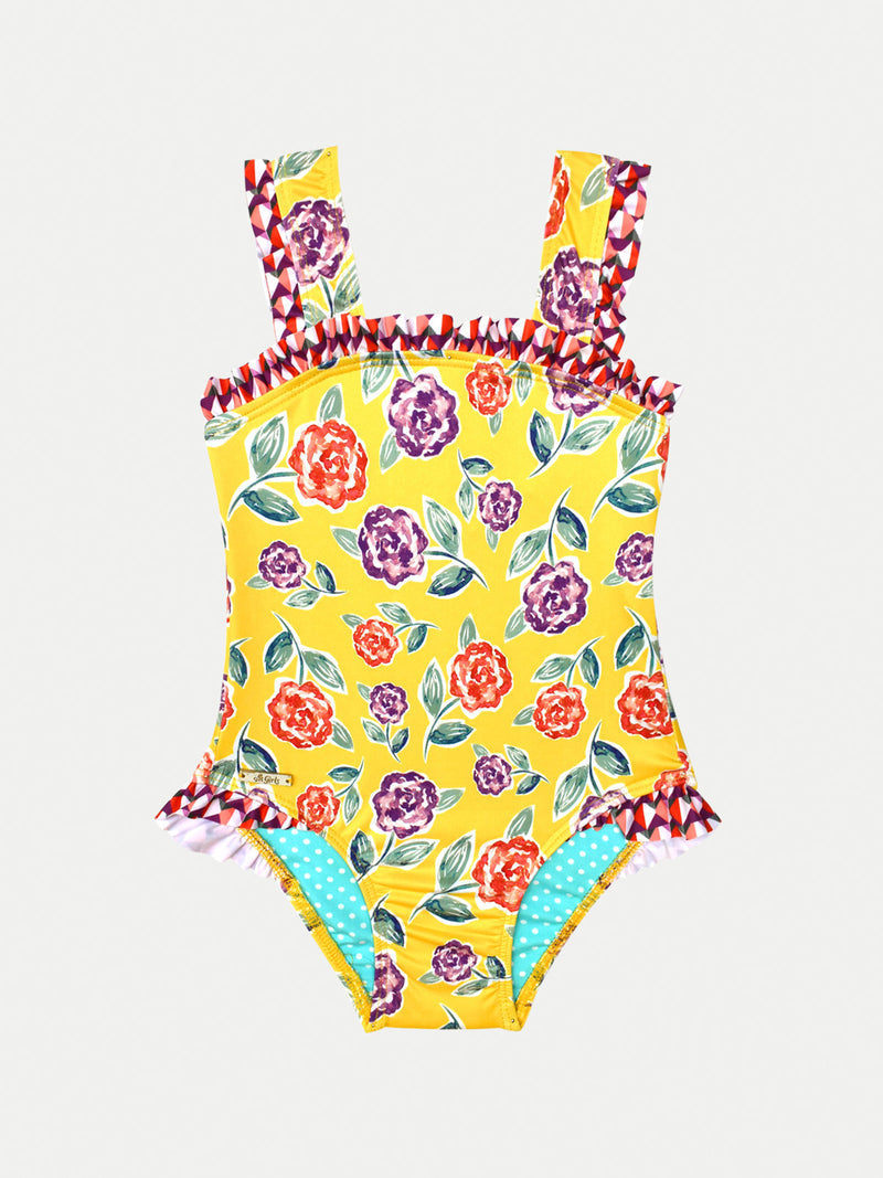 YELLOW GARDEN ONE PIECE