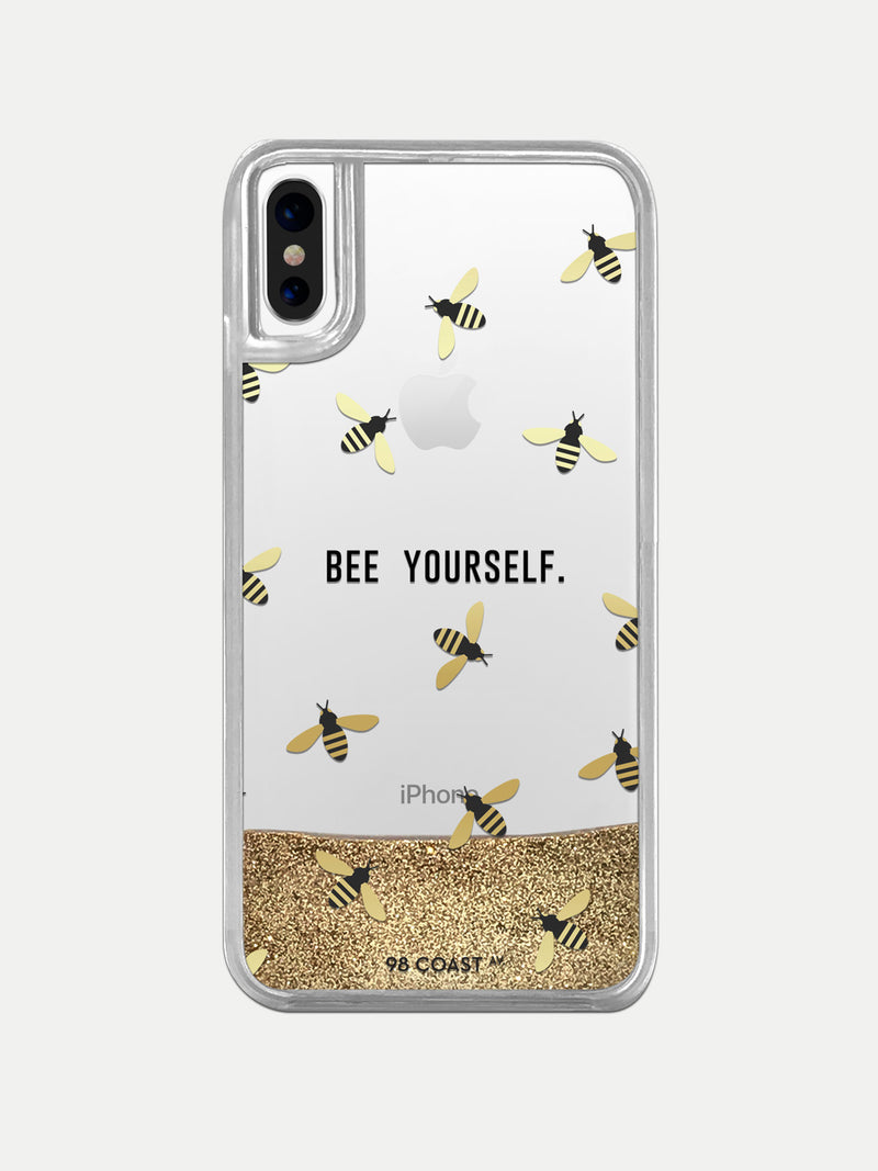 BEE YOURSELF GLITTER IPHONE CASE