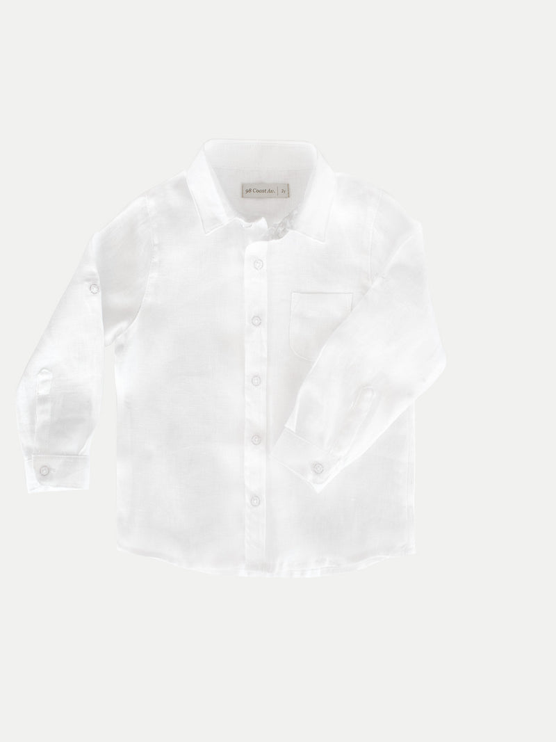 WHITE BOY LINEN SHIRT