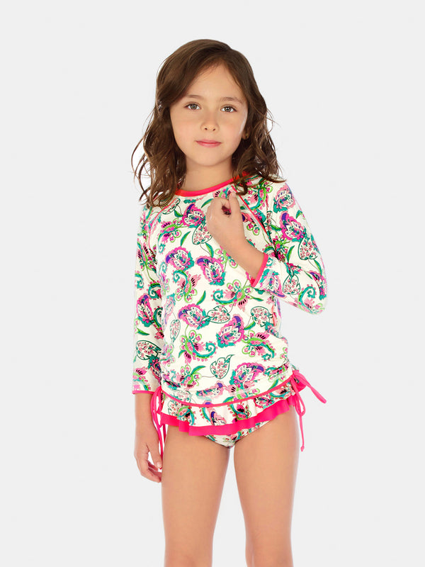 WHITE CABANA RASH GUARD