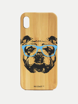 BULLDOG BAMBOO IPHONE CASE