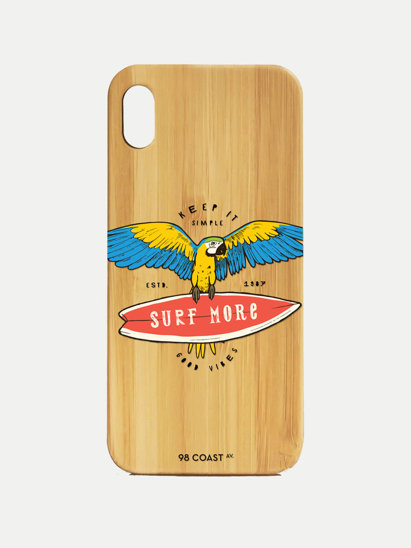 PARROT SURF BAMBOO IPHONE CASE