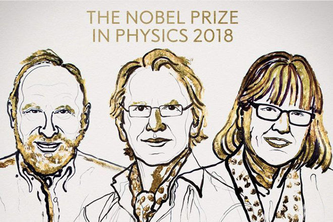 Nobel Prize winners 2018, Nobel Prize Physics,