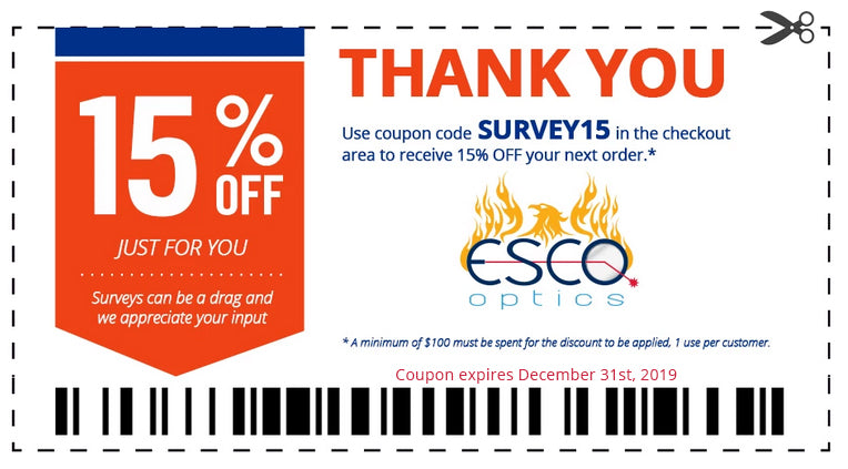 15% off your next order from Esco Optics