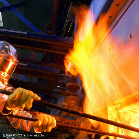 How glass is made, Optical glass furnace, melting of raw glass,