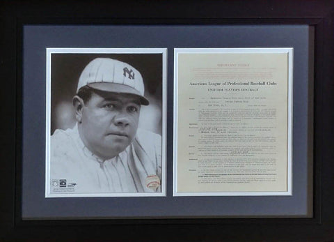 Babe Ruth 8x10 Photo Display
