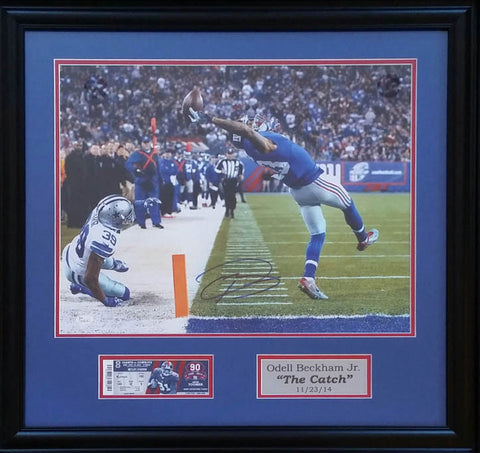Odell Beckham, Jr Autographed 16x20 Photo Display