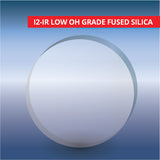 Commercial Quality Windows, Circular, I2-IR Low OH Grade Fused Silica