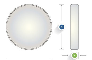 Commercial Quality Windows, Circular, S1-UV Grade Fused Silica
