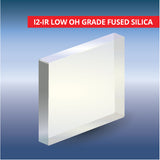 Commercial Quality Windows, Square, I2-IR Low OH Grade Fused Silica