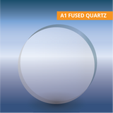 Commercial Quality Windows, Circular, A1 Fused Quartz, Optical Grade