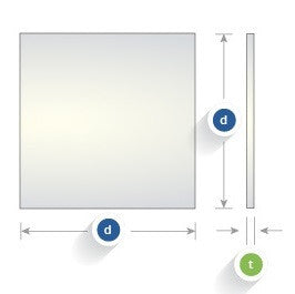 Commercial Quality Windows, Square, S1-UV Grade Fused Silica