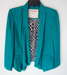 Anthropologie Cartonnier Teal Unstructured Jacket